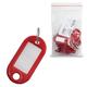 Брелоки для ключей STAFF, эконом, комплект 20 шт., длина 48 мм, инфо-окно 28×15 мм, красные
