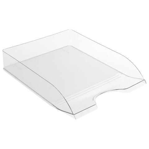 Лоток горизонтальный для бумаг СТАММ «Дельта», прозрачный