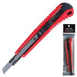 Нож универсальный LACO (ЛАКО, Германия), 9 мм, автофиксатор, цвет корпуса красно-черный, + 2 лезвия