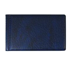 Визитница однорядная на 28 визитных, дисконтных или кредитных карт, синяя, «ДПС»