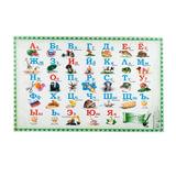 Коврик-подкладка настольный для письма, с русским алфавитом, 380×590 мм, «ДПС»
