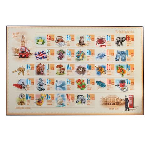 Коврик-подкладка настольный для письма, с английским алфавитом, 380×590 мм, «ДПС»