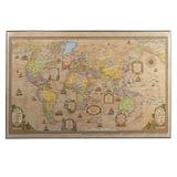Коврик-подкладка настольный для письма, с картой мира ретро, 380×590 мм, «ДПС»