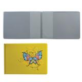 Обложка для пластиковых карт, дорожных билетов, студенческих билетов «Бабочка», кожзаменитель, «ДПС»