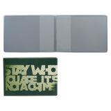 Обложка для пластиковых карт, дорожных билетов, студенческих билетов «STAY WHO», кожзаменитель, «ДПС»