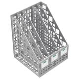Лоток вертикальный для бумаг СТАММ, ширина 240 мм, 5 отделений, сетчатый, сборный, серый