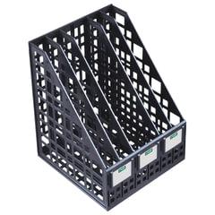 Лоток вертикальный для бумаг СТАММ, ширина 240 мм, 5 отделений, сетчатый, сборный, черный