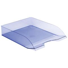 Лоток горизонтальный для бумаг СТАММ «Дельта», тонированный голубой