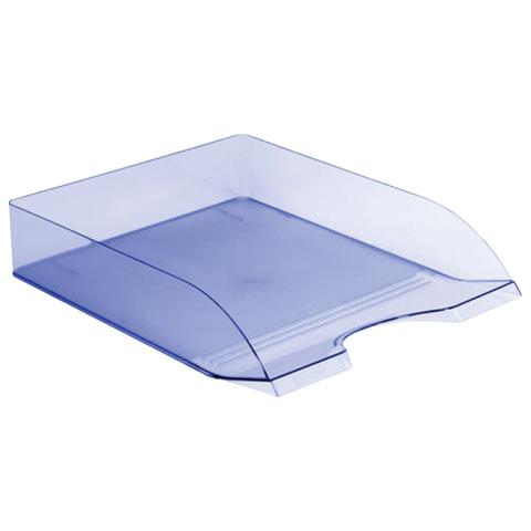 """Лоток горизонтальный для бумаг СТАММ """"Дельта"""", тонированный голубой"""
