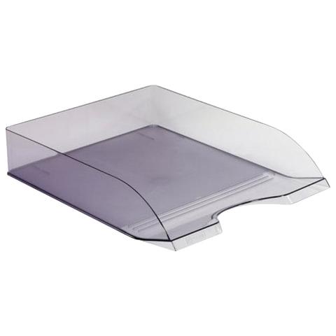 Лоток горизонтальный для бумаг СТАММ «Дельта», тонированный серый