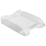 Лоток горизонтальный для бумаг СТАММ «Люкс», прозрачный
