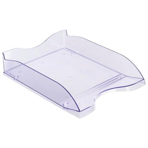Лоток горизонтальный для бумаг СТАММ «Люкс», тонированный голубой