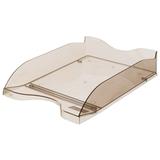 Лоток горизонтальный для бумаг СТАММ «Люкс», тонированный коричневый