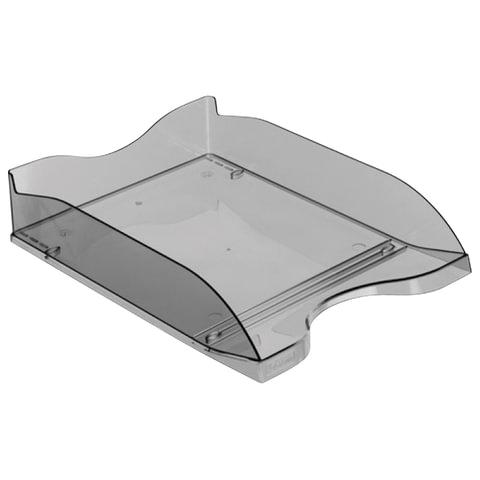 Лоток горизонтальный для бумаг СТАММ «Люкс», тонированный серый