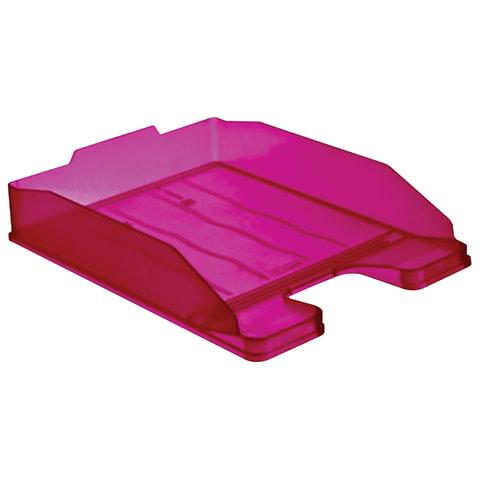 """Лоток горизонтальный для бумаг СТАММ """"Эксперт"""", тонированный фиолетовый (слива)"""