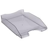 Лоток горизонтальный для бумаг СТАММ с индексным окном, серый