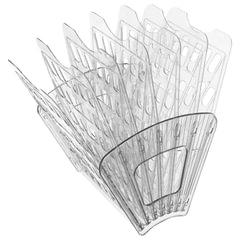 Лоток для бумаг СТАММ, 7-ми секционный, 6 отделений, прозрачный
