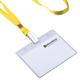 Лента для бейджей BRAUBERG (БРАУБЕРГ), 45 см, металлический клип, желтая