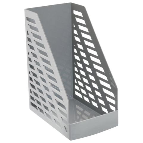 Лоток вертикальный для бумаг СТАММ «XXL», ширина 160 мм, серый