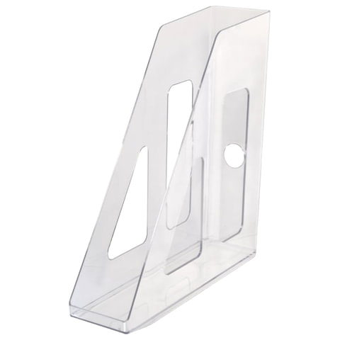 Лоток вертикальный для бумаг СТАММ «Актив», ширина 70 мм, прозрачный
