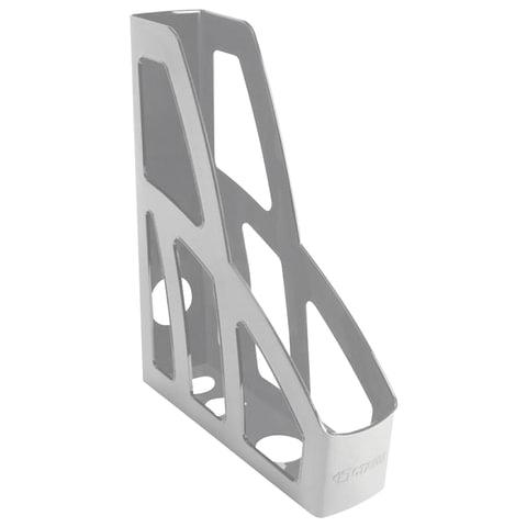 Лоток вертикальный для бумаг СТАММ «Лидер», ширина 75 мм, серый