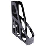 Лоток вертикальный для бумаг СТАММ «Лидер», ширина 75 мм, черный