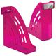 Лоток вертикальный для бумаг СТАММ «Торнадо», ширина 95 мм, тонированный фиолетовый (слива)
