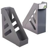 Лоток вертикальный для бумаг СТАММ «Ультра», ширина 100 мм, серый