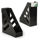 Лоток вертикальный для бумаг СТАММ «Ультра», ширина 100 мм, черный