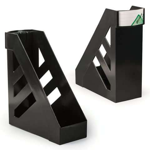 """Лоток вертикальный для бумаг СТАММ """"Ультра"""", ширина 100 мм, черный"""