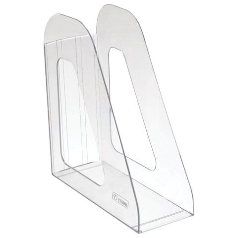 """Лоток вертикальный для бумаг СТАММ """"Фаворит"""", ширина 90 мм, прозрачный"""