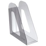 Лоток вертикальный для бумаг СТАММ «Фаворит», ширина 90 мм, тонированный серый