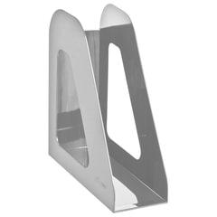 Лоток вертикальный для бумаг СТАММ «Фаворит», ширина 90 мм, серый