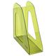 Лоток вертикальный для бумаг СТАММ «Фаворит», ширина 90 мм, тонированный зеленый лайм