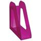 Лоток вертикальный для бумаг СТАММ «Фаворит», ширина 90 мм, тонированный фиолетовый (слива)