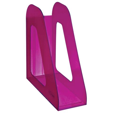"""Лоток вертикальный для бумаг СТАММ """"Фаворит"""", ширина 90 мм, тонированный фиолетовый (слива)"""