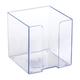 Подставка для бумажного блока СТАММ пластиковая, 90×90×90 мм, прозрачная