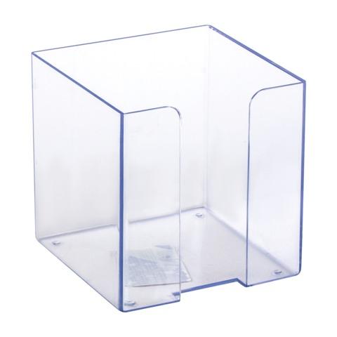 Подставка для бумажного блока СТАММ пластиковая, 90х90х90 мм, прозрачная