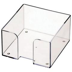 Подставка для бумажного блока СТАММ пластиковая, 90×90×50 мм, прозрачная
