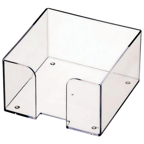 Подставка для бумажного блока СТАММ пластиковая, 90х90х50 мм, прозрачная
