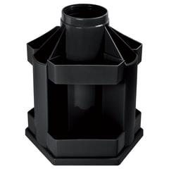 Подставка-органайзер СТАММ «Maxi Desk», вращающаяся, 120×140×175 мм, 10 отделений, черная