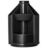 Подставка-органайзер СТАММ «Mini Desk», вращающаяся, 107×107×140 мм, 10 отделений, черная