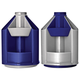 Подставка-органайзер СТАММ «Mini Desk», вращающаяся, 107×107×140 мм, 10 отделений, серый металлик/<wbr/>темно-синий