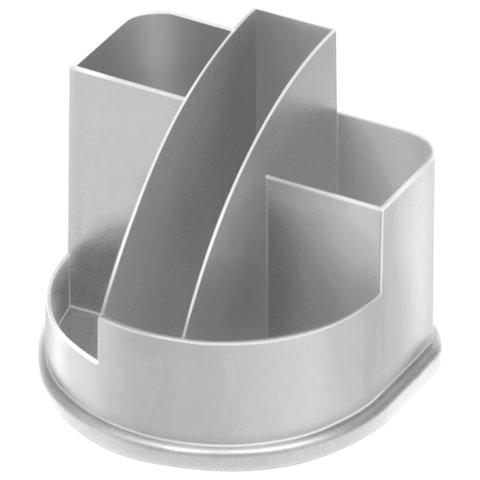 """Подставка-органайзер СТАММ """"Авангард"""", 132х122х108 мм, 5 отделений, серая"""