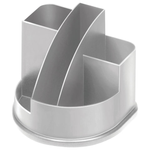Подставка-органайзер СТАММ «Авангард», 132×122×108 мм, 5 отделений, серая