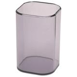 Подставка-органайзер СТАММ «Визит» (стакан для ручек), 70×70×100 мм, тонированная серая