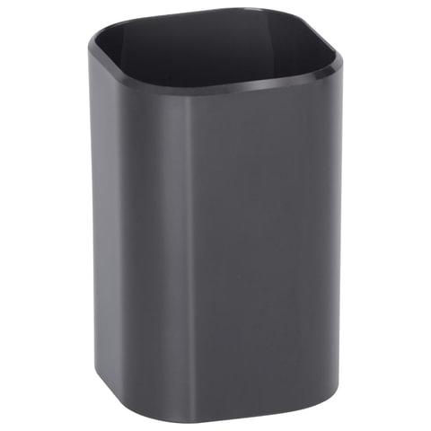 """Подставка-органайзер СТАММ """"Визит"""" (стакан для ручек), 70х70х100 мм, черная"""