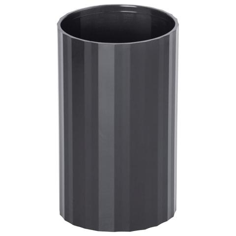"Подставка-органайзер СТАММ ""Гранд"" (стакан для ручек), 70х70х110 мм, черная"