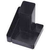 Подставка-органайзер СТАММ «Имидж», 115×122×111 мм, 4 отделения, черная
