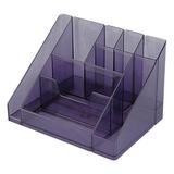 Подставка-органайзер СТАММ «Каскад», 115×160×105 мм, 9 отделений, тонированная серая